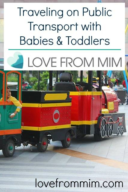 Traveling on Public Transport with Babies and Toddlers - www.lovefrommim.com Getting Public Transport with Babies and Toddlers Getting the Bus with a Baby Getting a Taxi with a Baby Traveling by Train with a Baby