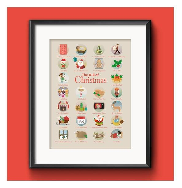 Little Hand Prints The A to Z of Christmas Print Review - www.lovefrommim.com Kids Wall Art