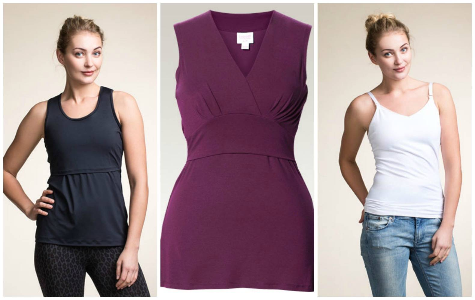 Maternity Style Tips - www.lovefrommim.com Pregnancy Fashion Maternity Wear Pregnancy Clothes Tips Maternity Fashion Tips Boob Nursing Singlet Top