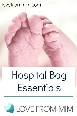 Hospital Bag Essentials - lovefrommim.com What to pack in your hospital bag what to take to the hospital for labour birth plan Pregnancy Hospital Bag