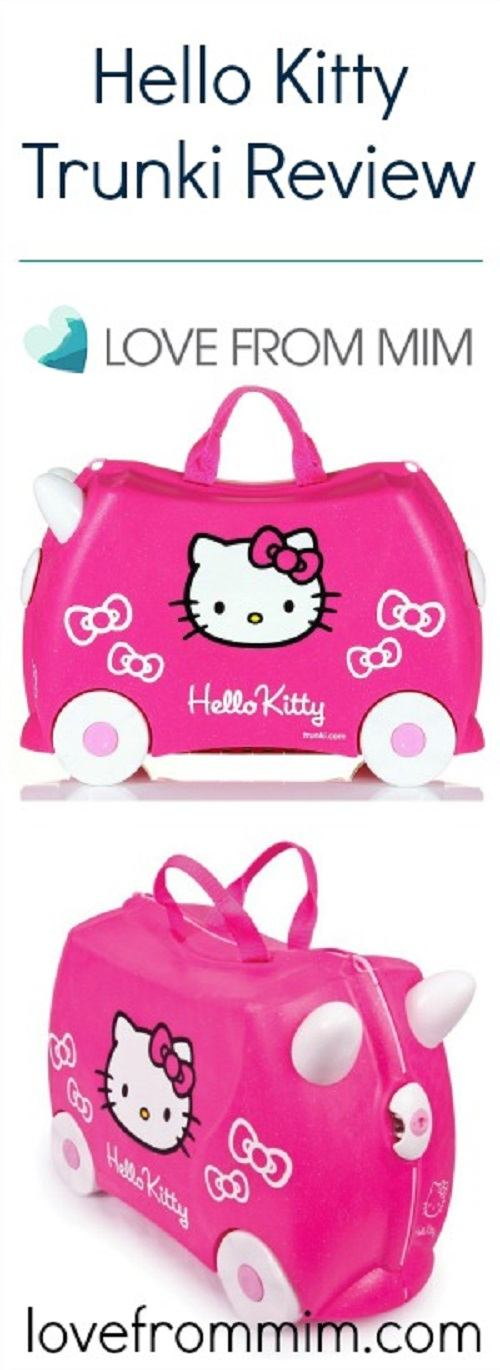 Hello Kitty Trunki Review - Love from Mim This was the best kids suitcase we have tried! Kids travel bags Trunki Australia childrens suitcases #trunki #kidssuitcase #trunkireview #trunkireviews #kidsluggage #kidstravelbag