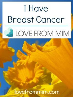 I Have Breast Cancer - lovefrommim.com Triple Negative Breast Cancer Diagnosis and Treatment Plan AC Chemo Taxol Chemo Radiotherapy Lumpectomy I found a lump in my breast