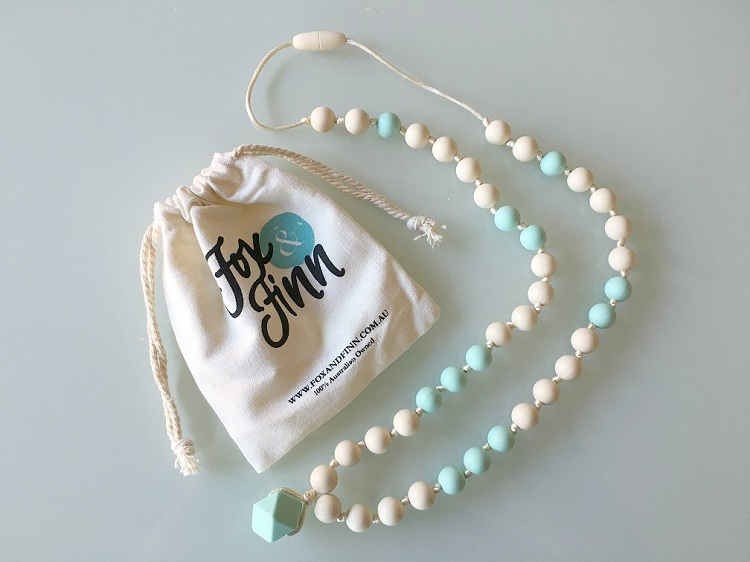 Fox and Finn Teething Necklace - Love from Mim