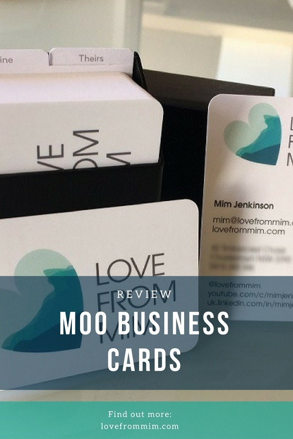 Moo business cards review love from mim reheart Gallery
