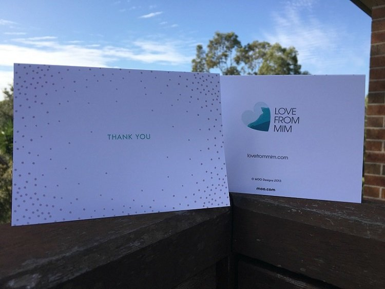Moo Greeting Cards Review - Love from Mim