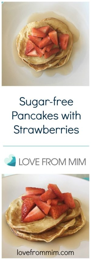 Sugar-free Pancakes with Strawberries - lovefrommim.com Sugar-free Pancakes Pancakes Sugar-free Recipes Recipe Breville Boss-to-Go Plus Keto Pancakes Keto Breakfast Ketogenic Pancakes Low-Carb Pancakes