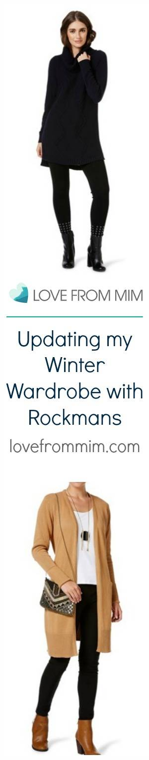 Updating my Winter Wardrobe with Rockmans - lovefrommim.com Chunky Knit Black Jumper Black Leggings Black Ankle Boots Autumn Outfit Idea Winter Outfit Idea Rockmans Long Sleeved Tan Belted Cardigan in Biscotti Rockmans Full Length High Waisted Jeggings in Bordeaux Table Eight Carly Roll Neck Long Sleeve Knit Top