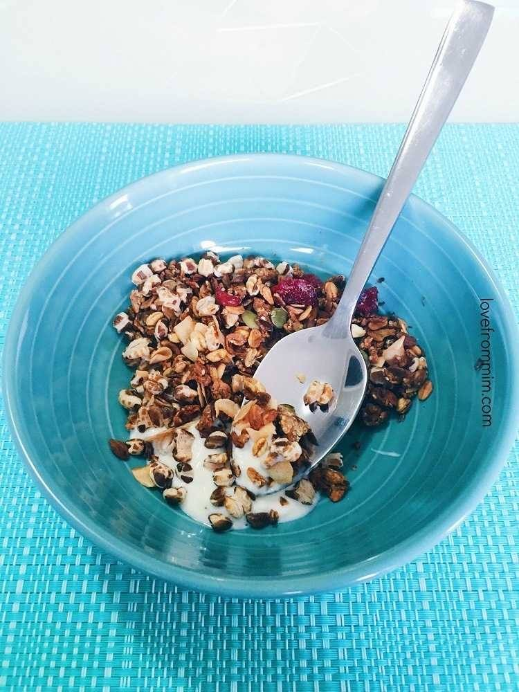 My First Week Results on Lite n' Easy! Love from Mim Cranberry Coconut Crunch with Vanilla Yogurt