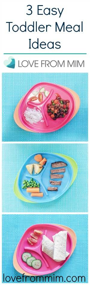 3 Easy Toddler Meals - lovefrommim.com Cooking for Kids Baby Meal Ideas Baby Led Weaning Meal Ideas Easy Toddler Recipes Easy Kids Meal Ideas