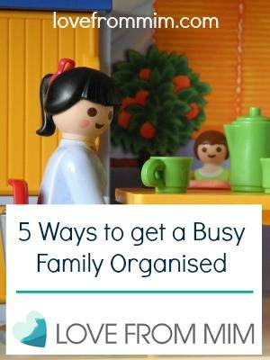 5 Ways to get a busy family organised by Life Wrangling - lovefrommim.com #MyFiveThings Family Organisation How to get your family organised and ready for anything How to organise your family Family Routine