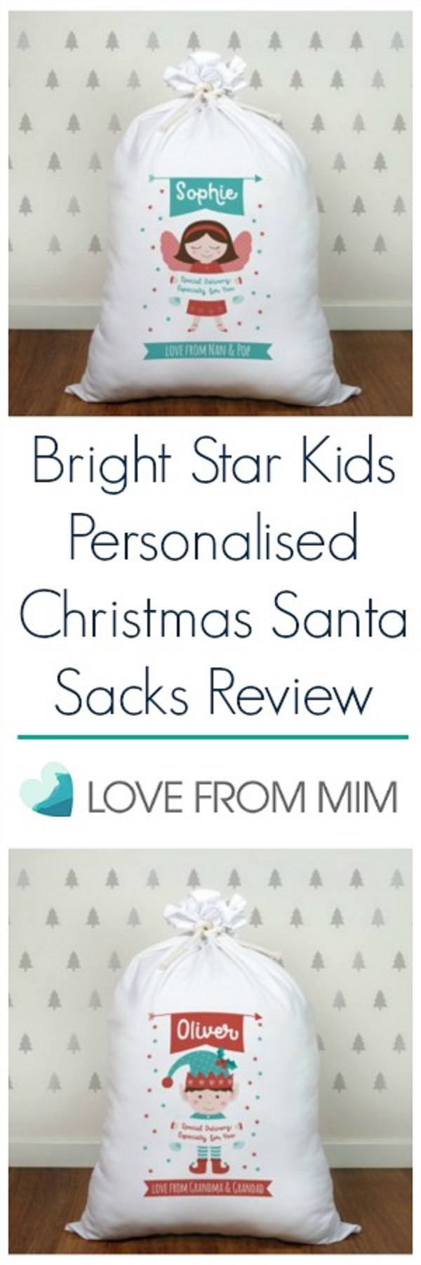 If you're looking for a personalized santa sack, check out my Bright Star Kids Personalised Santa Sacks Review - Love from Mim #christmassack #santasack #santasacks #christmassacks #personalizedsantasack #personalisedsantasack