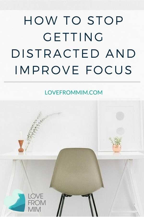 Learn how to stop getting distracted and improve your focus with these top tips on getting things done! Be more productive and efficient #productivitytips #productivityadvice #productivityhacks #bemorefocused #focus #stopdistractions #selfhelp