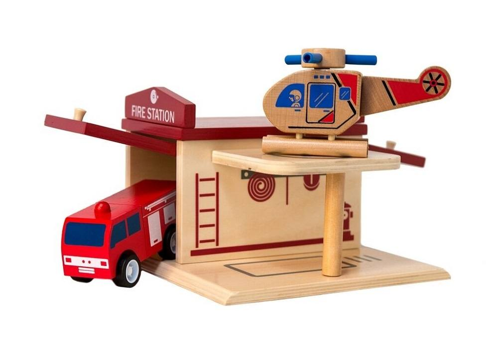 Click Clack Toys Fire Station - Love from Mim