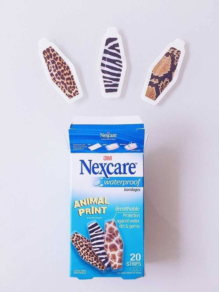 Nexcare Animal Print Waterproof Bandages Review - Love from Mim