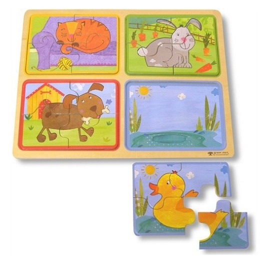 Playful Pals Wooden Puzzle - Love from Mim
