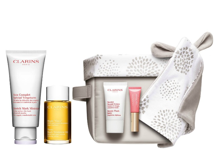 Clarins Motherhood Pregnancy Set - skin care for pregnant mothers