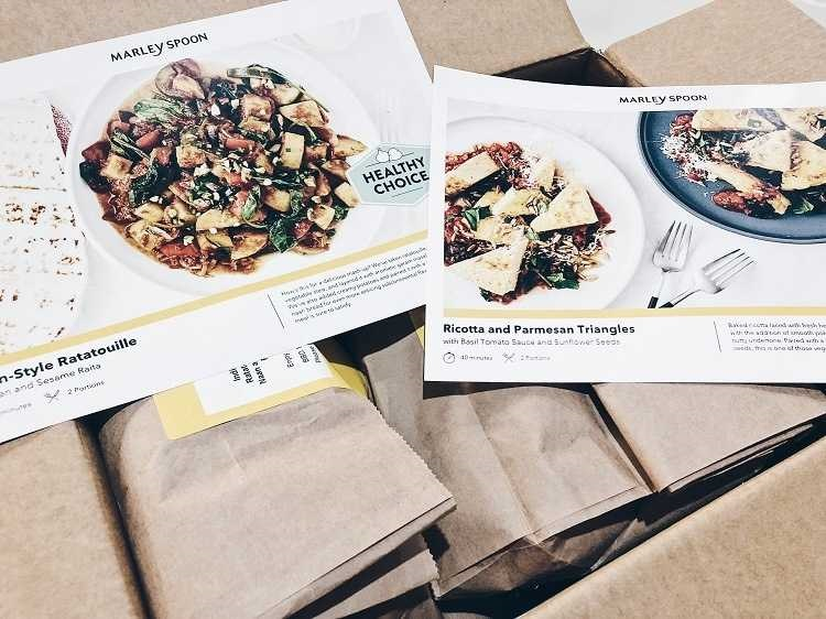 Marley Spoon Recipe Box
