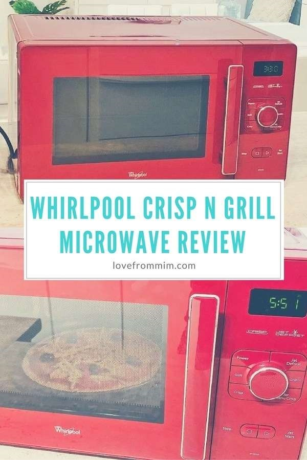 If you're looking for a convection oven and microwave, check out this Whirlpool Crisp n Grill Microwave Review - Love from Mim #whirlpool #bestmicrowave #microwaves #microwavereviews