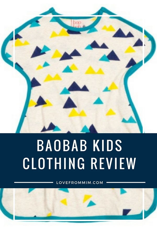 Baobab Kids Clothing Review - Love from Mim