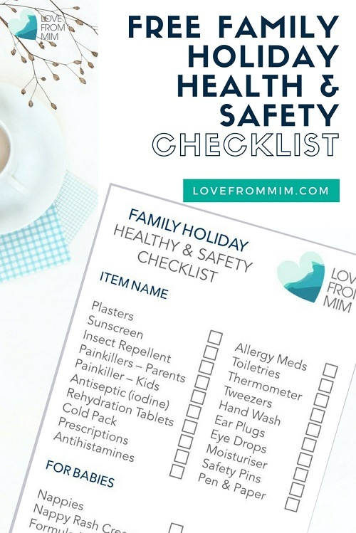 Family Holiday Health & Safety Checklist