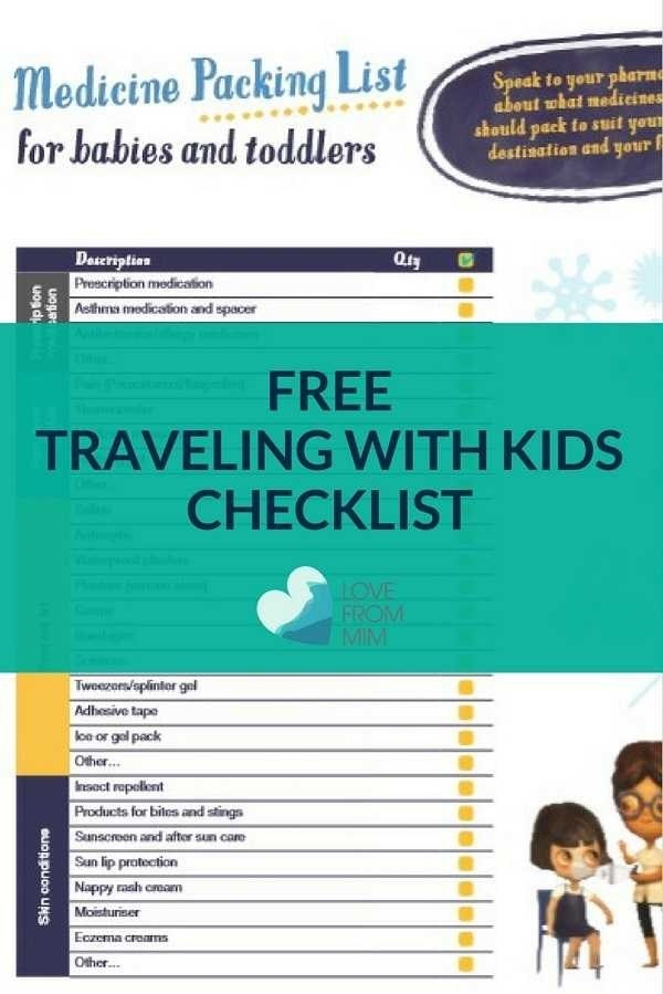 Traveling with Kids Medical Checklist