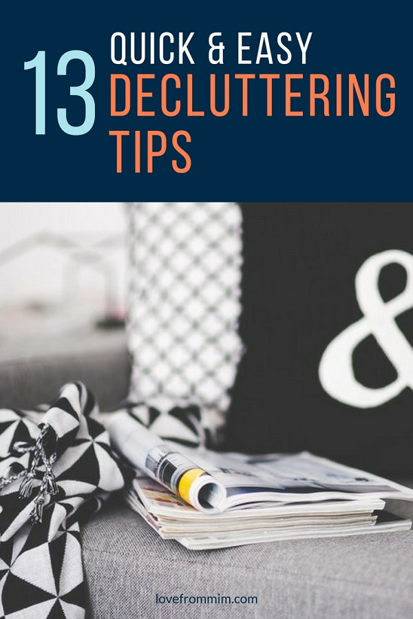 Decluttering Tips for Hoarders - Love from Mim How to declutter your home and how to declutter small things with this decluttering checklist #declutter #decluttering #konmari #mariekondo #minimalism #minimalismformoms #minimalismforfamilies