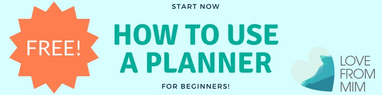 How to use a Planner for Beginners - Love from Mim