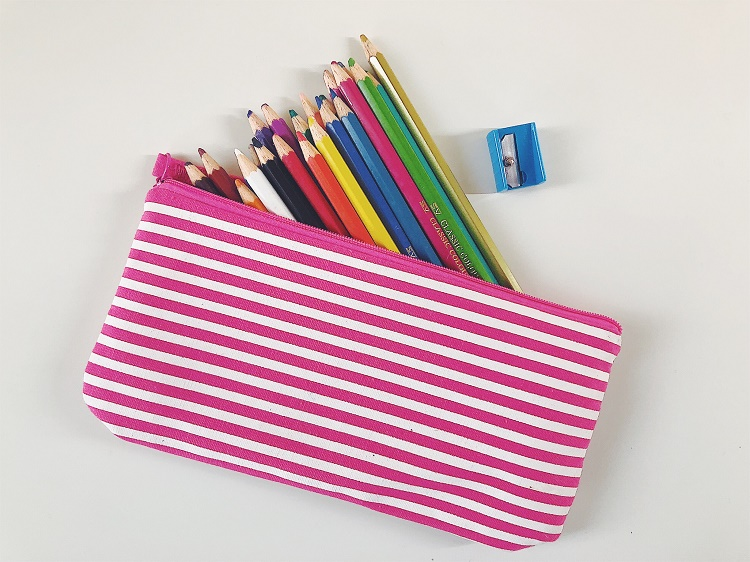 Coloured Pencils in Pencil Case - Love from Mim