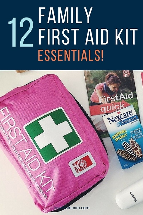 Find out what the Family First Aid Kit essentials are that you must add to your first aid kit. Essential products to keep your family safe and well plus a free printable family first aid checklist! - Love from Mim #familyfirstaid #firstaidkit #familyhealth #familyfirstaidkit