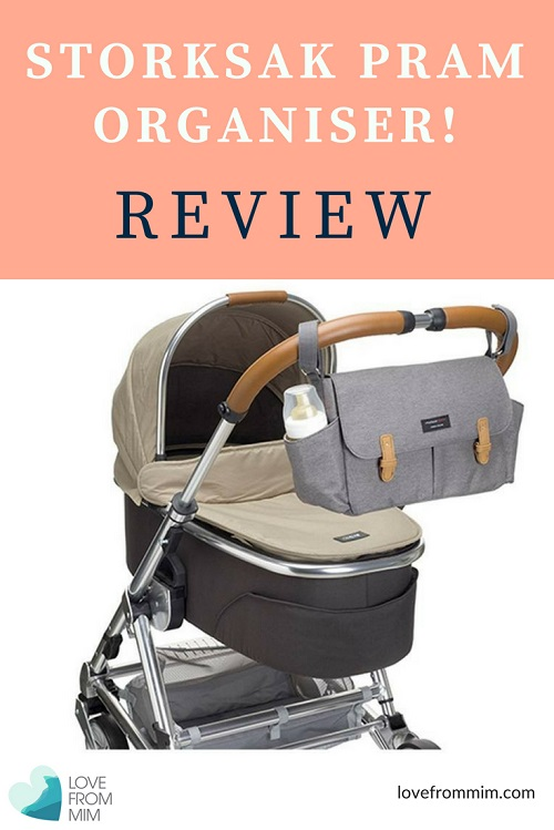 Looking for a Stroller Organiser to make being on the go with your baby easier? Check out this Storksak Travel Caddy Stroller Organiser Review - Love from Mim Pram Organiser by Storksak Nappy Bags Nappy Bag Organiser Best Pram Organiser Best Stroller Organiser