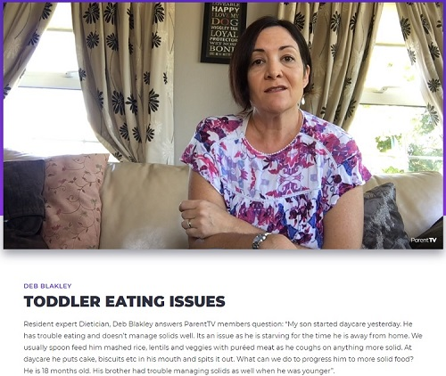 ParentTV Toddler Eating Issues Video - Love from Mim