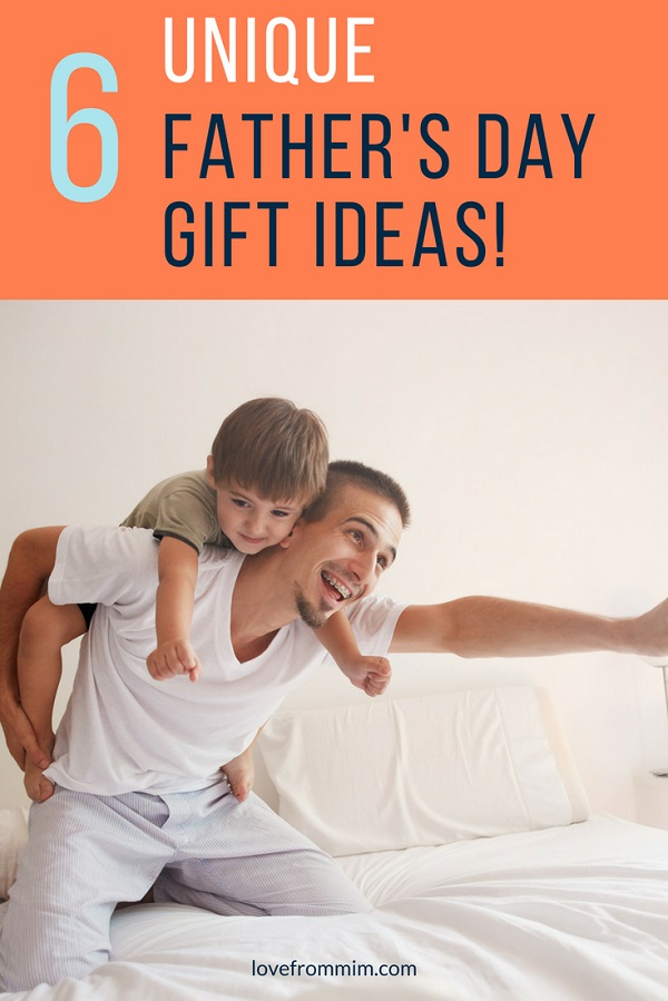 Looking for unique first Fathers Day gifts he will love? Check out these 6 cool Fathers Day Gifts for men - there's bound to be something perfect for a Fathers Day Present for the Dads your life! lovefrommim.com #fathersday #fathersdaygifts #uniquefathersdaygifts #giftsfordad