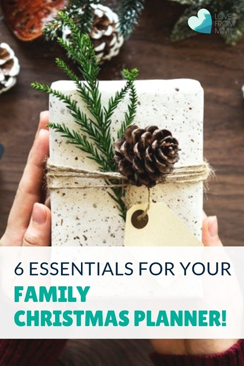 These 6 things for your Family Christmas Planner will keep you organised for Christmas, within budget and much more relaxed! Find out how to make Christmas less stressful and less expensive with these handy Christmas organisational tips! Love from Mim