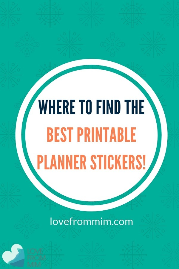 If you're looking for the Best Printable Planner Stickers, you will love this range from Love from Mim and her top picks. Find out how to print printable planner stickers and how to cut printable planner stickers too! #printables #freeprintables #printableplannerstickers #erincondren #plannerstickers #printablestickers #erincondrenstickers #bestplanners #plannerreviews