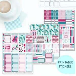 This Printable A Little Love Full Weekly Kit has everything you need to decorate your Erin Condren LifePlanner! Whether you're a no white space planner or not, you have such much choice in this digital printables sticker kit