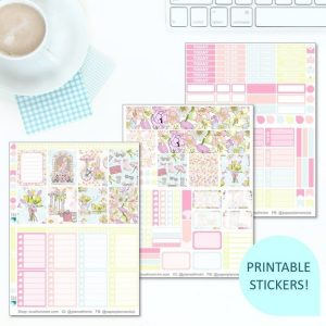 This Printable Spring Has Sprung Full Weekly Kit has everything you need to decorate your Erin Condren LifePlanner! Whether you're a no white space planner or not, you have such much choice in this digital printables sticker kit