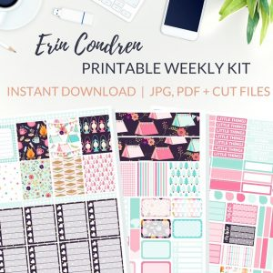 Printable Happy Camping Weekly Kit of printable planner stickers for the Erin Condren Life Planner or most other planners! Get the best planner stickers and printable stickers in my best planner stickers range. #plannerstickers #freeprintables #printableplannerstickers #weeklykit #weeklystickers #etsystickers #erincondrenstickers #planning #lovefrommim #paperplannerclub #campingstickers #glampingstickers #vacationstickers