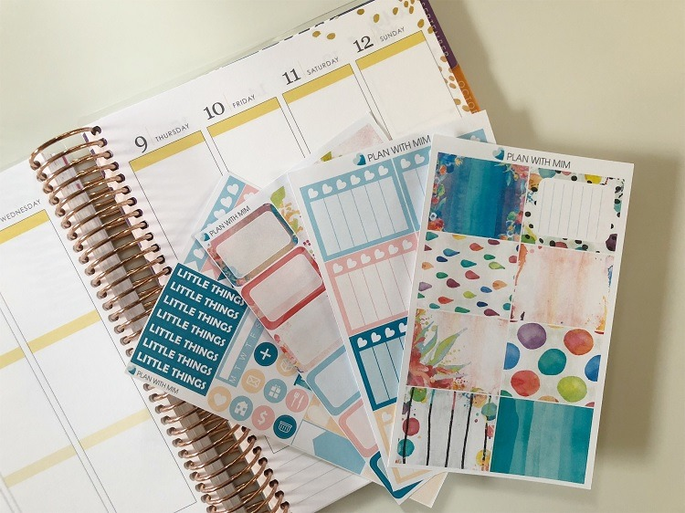 Where to Find & Use the Best Printable Planner Stickers - Watercolour Wash from Paper Planner Club