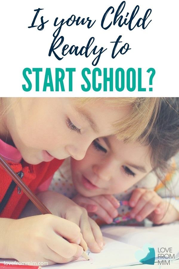 Is your child ready to start school? This mum of four shares how to tell if your child is ready for school and tips for getting ready for school. #startingschool #backtoschool #school #primaryschool #australianschools #australianmums