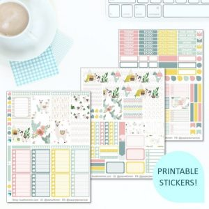 This Printable Love for Llamas Full Weekly Kit has everything you need to decorate your Erin Condren LifePlanner! Whether you're a no white space planner or not, you have such much choice in this digital printables sticker kit. Perfect if you love llama, cactus or cacti designs!
