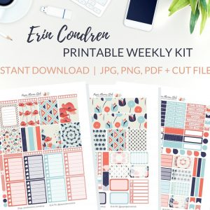 Printable Pretty Flowers Weekly Kit of printable planner stickers for the Erin Condren Life Planner or most other planners! Get the best planner stickers and printable stickers in my best planner stickers range. #plannerstickers #freeprintables #printableplannerstickers #weeklykit #weeklystickers #etsystickers #erincondrenstickers #planning #lovefrommim #paperplannerclub #floralstickers #floralplanner #poppystickers