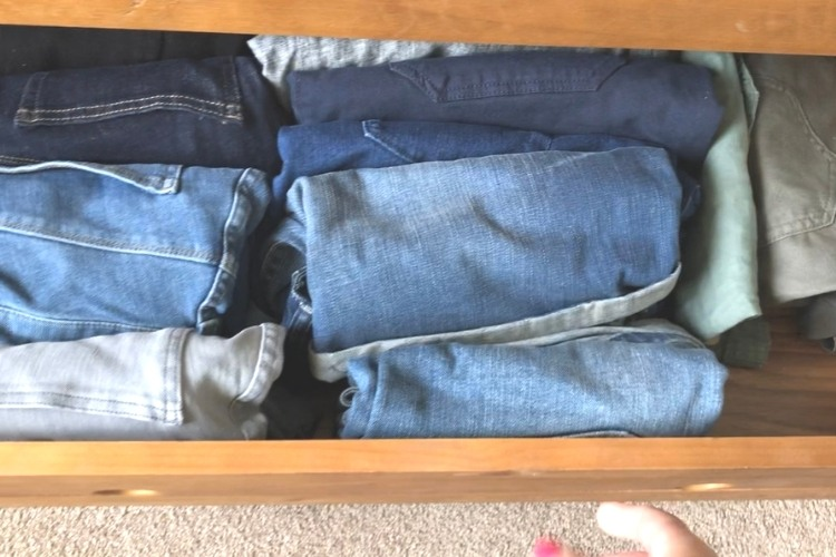 Folded Clothes in Drawer