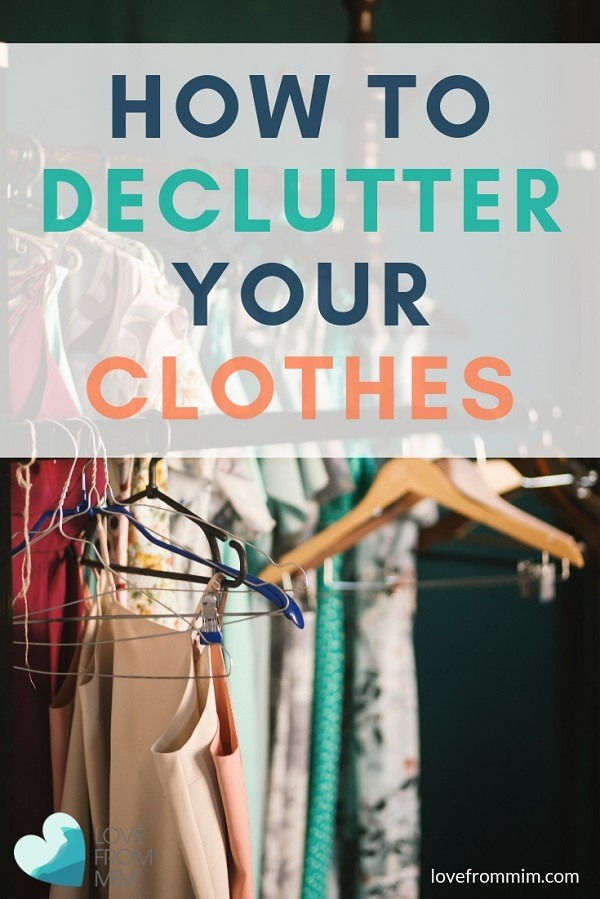 Find out how to declutter your clothes with the Konmari method from Marie Kondo. Declutter your closet and learn how to get rid of old clothes! #konmari #mariekondo #sparkjoy #konmarimethod #konmarifolding #konmarifoldingmethod #mariekondomethod #konmarie #decluttering #declutterclothes #declutterclothing #decluttercloset #declutterwardrobe