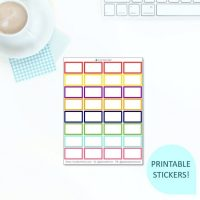 These Free Printable Bright Half Boxes stickers will help you decorate your Erin Condren LifePlanner or other planners and stay super organised and productive! So much choice on this digital printables Half Box stickers sheet. #digitalstickers #plannerstickers #halfboxes #halfboxstickers #appointmentlabels #freestickers #freeprintables #printablestickers