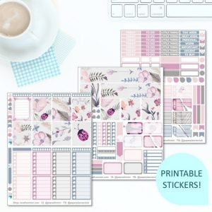 This Printable Doodlebugs Full Weekly Kit has everything you need to decorate your Erin Condren LifePlanner! Whether you're a no white space planner or not, you have such much choice in this digital printables sticker kit. #planneraddict #plannerstickers #freeprintables #printableplannerstickers #etsystickers #erincondrenstickers #planning #erincondren #bugs
