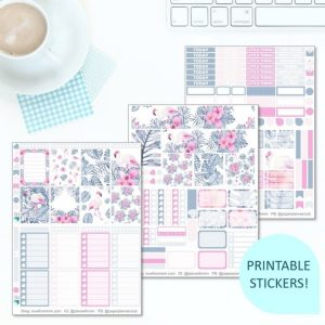 This Printable Fancy Flamingos Full Weekly Kit has everything you need to decorate your Erin Condren LifePlanner! Whether you're a no white space planner or not, you have such much choice in this digital printables sticker kit. Tropical Leaves Flamingo #planneraddict #plannerstickers #freeprintables #printableplannerstickers #etsystickers #erincondrenstickers #planning #erincondren
