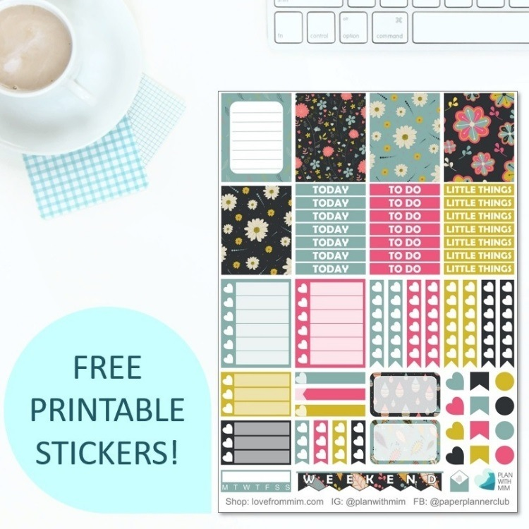 Grab Your Free Printable Planner Stickers