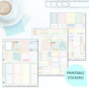 This Printable Shabby Chic Full Weekly Kit has everything you need to decorate your Erin Condren LifePlanner! Whether you're a no white space planner or not, you have such much choice in this digital printables pastel sticker kit. #planneraddict #plannerstickers #freeprintables #printableplannerstickers #etsystickers #erincondrenstickers #planning #erincondren #shabbychic #pastelstickers