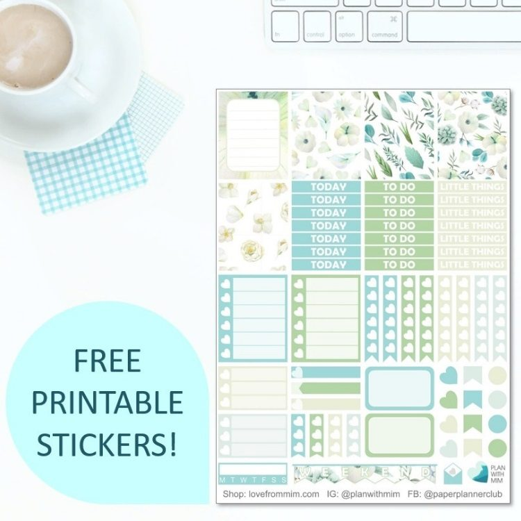 photograph about Free Printable Stickers for Planners named Seize Your Absolutely free Printable Planner Stickers!