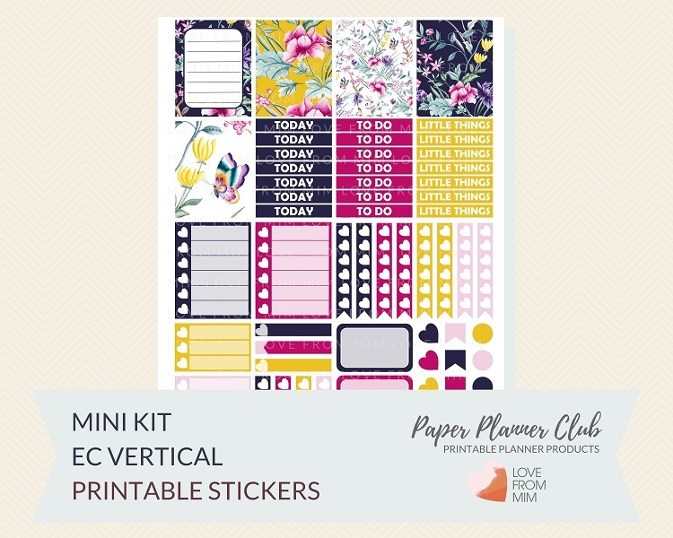 image relating to Free Printable Stickers known as Free of charge Floral Prints Printable Planner Stickers Package for Erin Condren Existence Planner Weekly Planner Stickers
